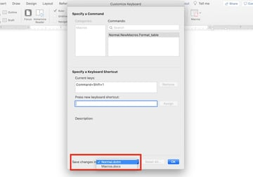 Microsoft Word macros - Save in normaldotm
