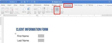 how to create a fillable form in word - shading form fields