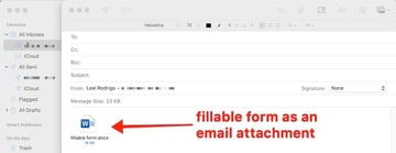 how to create a fillable form in word - email attachment