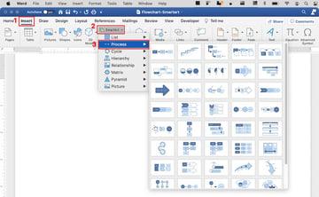 create flowchart in word - SmartArt