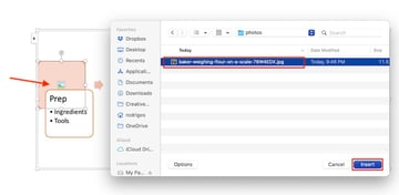 create flowchart in word - smartart add picture
