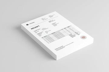 receipt template word