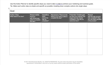 Goal Setting Action Plan Template