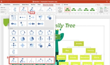 how to do family tree in powerpoint - change smartart style