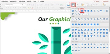 how do you make a family tree on powerpoint - insert shape
