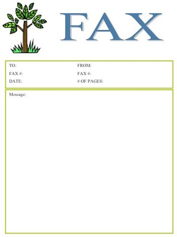 word fax cover letter