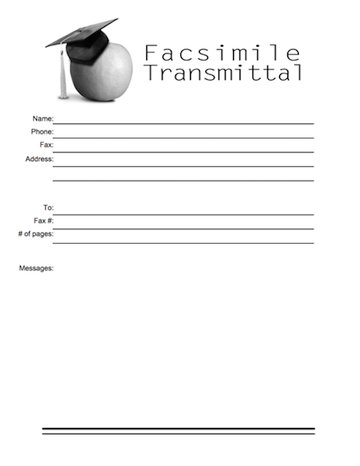 ms word fax cover page