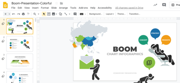Explore Boom Google Slides infographic template