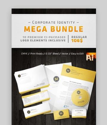 Business letterhead design bundle