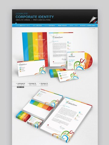 corporate Identity - Absolute Carnival