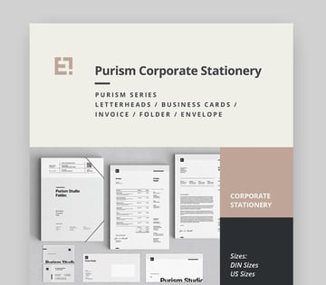 Purism Corporate Stationery