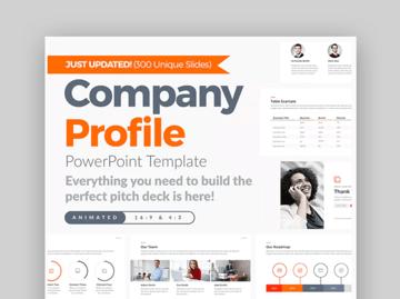 Company Profile PowerPoint  Calendar Template