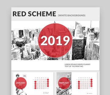 Calendar 2019 PowerPoint Presentation Template