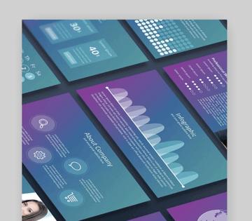 Blur Google Slides calendar template