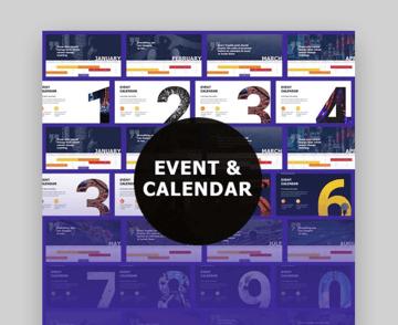 Evant  Calendar Google Slides Template