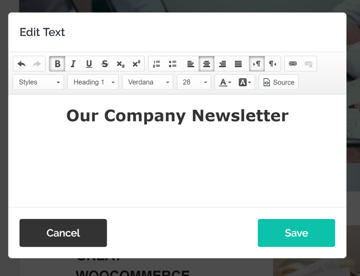Edit Placeholder Text in Mailchimp responsive email newsletter template