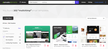 How to find Mailchimp templates on Envato Elements