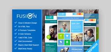 Fusion html template for email newsletter