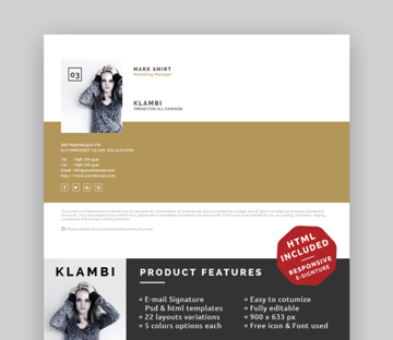 create a new email signature with this template