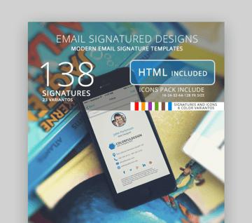 creative  email signature design template