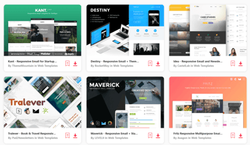 unlimited  mailchimp newsletter templates - free download with Envato Elements account