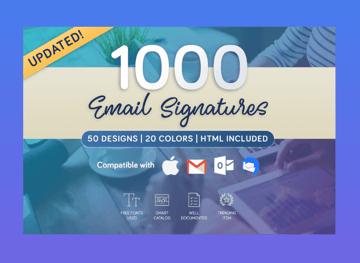 1000 closing email signatures