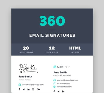360 email footer templates
