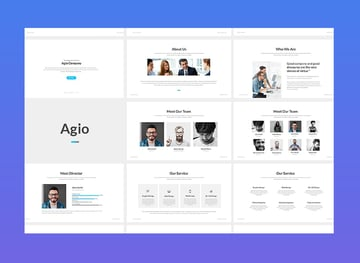 premium business powerpoint templates - agio