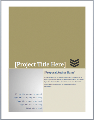 free microsoft word business proposal template