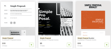 Simple Project Proposal Templates on GraphicRiver