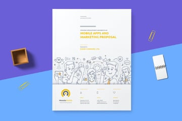 simple proposal template from Envato Elements
