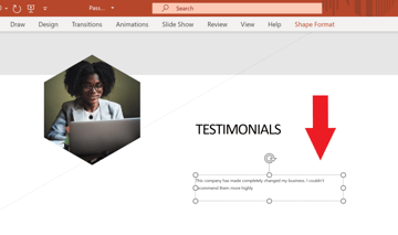 How to Add Text to Slides to leadership powerpoint template