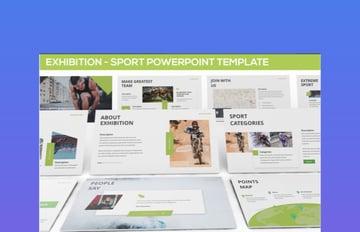 Exhibition Sports Design Slides Template