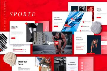 Sporte Creative PowerPoint Presentation