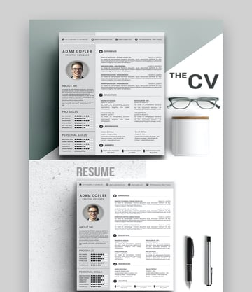 resume template photoshop