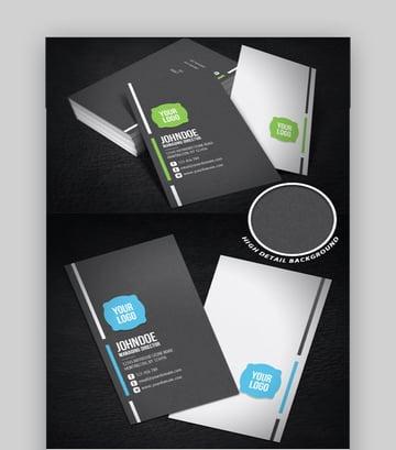 Neat Corporate Business Card