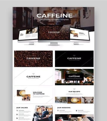 coffee themed template