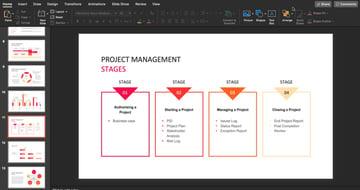 chart slide design