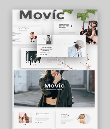 Movic Fashion Presentation Template