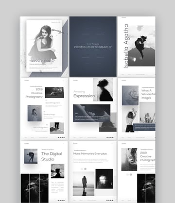Zoomin Portrait Photography PowerPoint Template