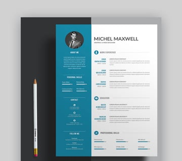 Word Resume Template With 4-Color Versions