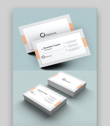 Double Sided Business Cards Template