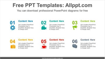 Icon Number List Agenda Slides PowerPoint Templates Free