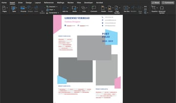 Adding an image to a creative resume format