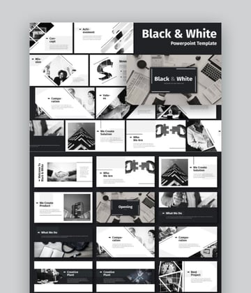 Black White business powerpoint
