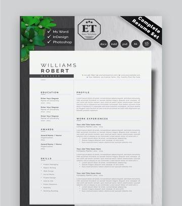 CV Resume Set