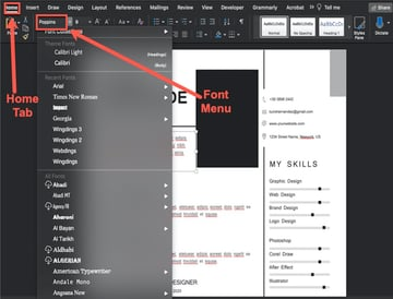 How to Change the Font
