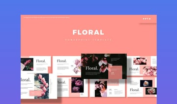 powerpoint templates flowers- Floral PowerPoint Template