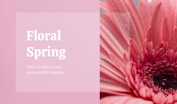 flowers ppt download - Floral Spring flower theme PowerPoint