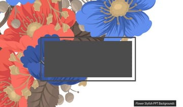 floral powerpoint templates - Flower Stylish PowerPoint Template